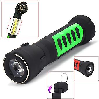 XANES CL13 Hidden Stretchable COB Light + 90 Rotated Head Light Magnetic Tail LED Flashlight