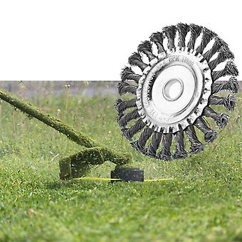 Durable Twist Knot Brush, Steel Wire Head-replacement For Electric Lawn Mower,