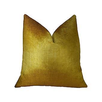 """Cuscino da lancio fatto a mano in bronzo Plutus Lumiere (doppio lato 18"""" X 18"""")"""