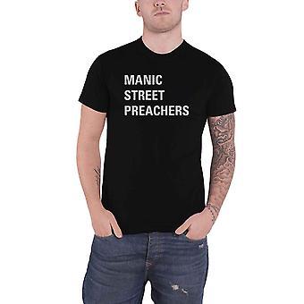 Manic Street Preachers T Shirt Block Band Logo new Official Black