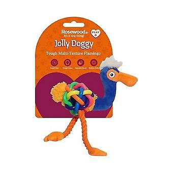 Rosewood Jolly Doggy Flamingo Dog Toy
