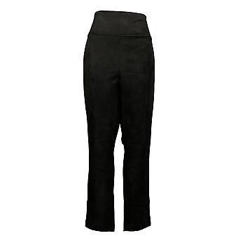 Andrew Marc Women's Pants (XXL) faux suede Black