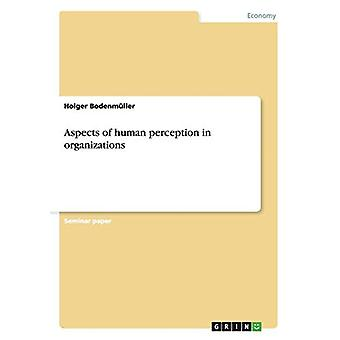 Aspects of human perception in organizations by Holger Bodenmuller -