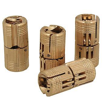 4PCS 12mm Hidden Concealed Copper Hinge for DIY Wooden Door Caravan Worktop