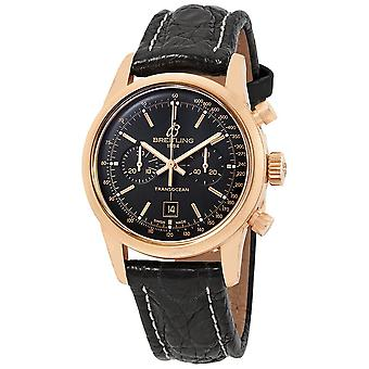 Breitling Transocean Chronograph 38 Automatic Black Dial Men's Watch R4131012/BC07BKCT