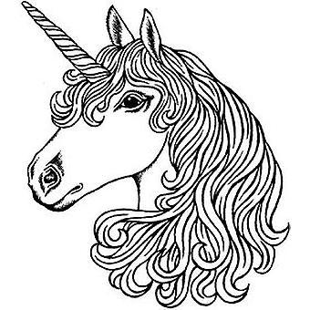 SD Unicorn Head Wood Mounted Stamp