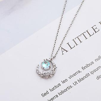Collana luna pendente crescent gioielli di moda femminile