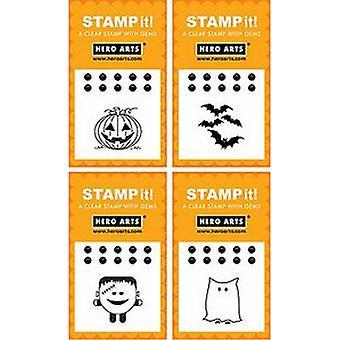 Hero Arts Stamp It: Halloween 4 Designs Rubber Stamp