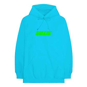 Billie Eilish Hoodie Thermal Photo new Official Mens Neon Blue Pullover