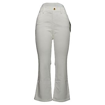 IMAN Global Chic Women's Petite Jeans Pull-On Bootcut White 734928100