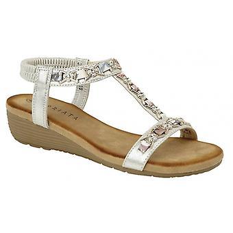 Cipriata Lia Ladies Ankle Strap Sandals Silver