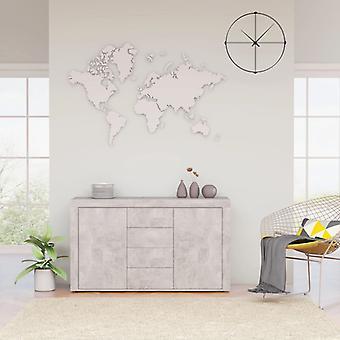 vidaXL buffet béton gris 120×36×69 cm
