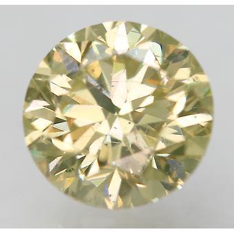 Cert 0,97 karat vihreä keltainen VS2 pyöreä brilliant parannettu luonnollinen timantti 6,08mm