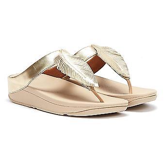 Fitflop Fino Lederen Dames Gouden Sandalen
