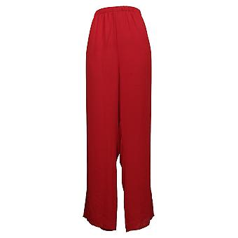 Antthony Women's Pants Lined Chiffon Straight-Leg Red 690762