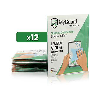 Pack of 12 4smarts cleaning wipes for screen - Disinfectant and antibacterial