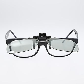 Montatura appesa occhiali 3d, clip stereo occhiali miopia su clip dimensionale.