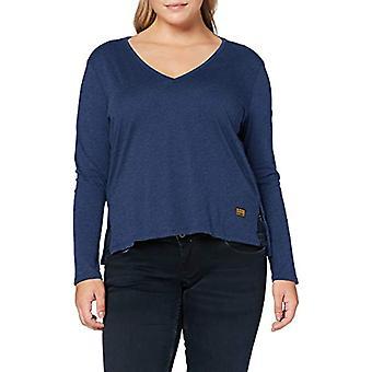 G-STAR RAW Core Rak V-Ringad T-Shirt, Bärs i Kobalt Htr 4107-c102, M Kvinna