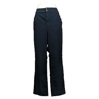 NYDJ Petite Jeans Marilyn Straight-Leg w / Double Button Blue A368097
