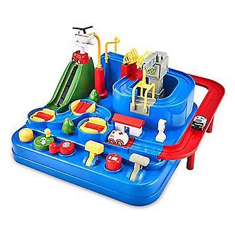 Dziecko rodzic dziecko interaktywne rail samochód jazdy gry budowa dzieci inżynieria toy samochód| Bloki