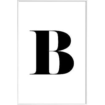 JUNIQE Print -  B - Alphabet & Buchstaben Poster in Schwarz & Weiß