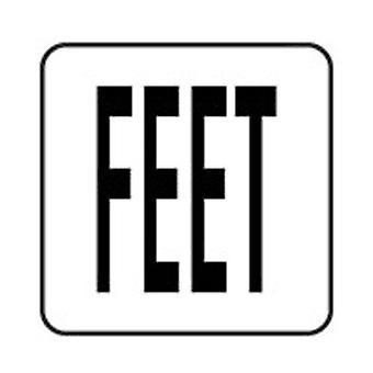 """Inlays V621710 6"""" x 6"""" Feet (Text Only) Vinyl Stickon"""
