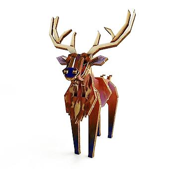 Coloured Stag A6 by Pop Up Designs