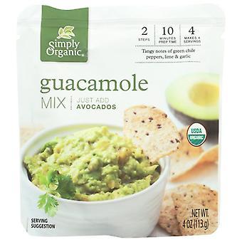 Simpelthen Økologisk Guacamole Dip Sauce Org, tilfælde af 6 X 4 Oz