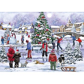 Otter House Ice Skating Fun Jigsaw Puzzle (1000 Pieces)