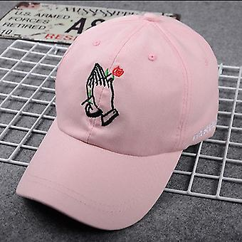 Špičková čepice Sunhat Baseball Cap Hat Ruce s růžovým květem pro muže ženy