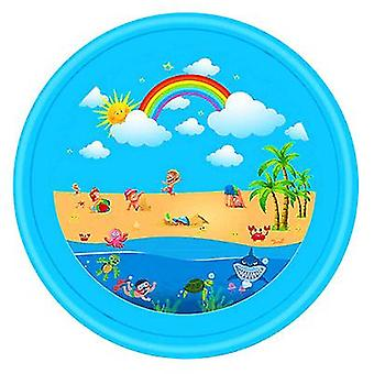 Pvc speelgoed water spray pad en zomer gazon spelen (blauwe regenboog)