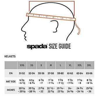 Spada SP16 Motorcycle Helmet Matt Black Integrated Sun Visor ACU Gold S