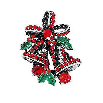 Girl Brooch Christmas Bell Corsage Retro Alloy Brooch Pin