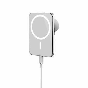 Carregador magnético sem fio de 15W para iphone 12 Pro Max 12 Mini Suporte Rápido| Carregadores sem fio (branco)