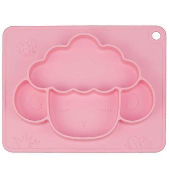 Bélés szőnyeg / Élelmiszer tál tapadókoronggal Rózsaszín