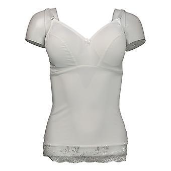 Rhonda Shear Camisole Pin Up Camisole mit Spitzenbesatz Weiß 650230