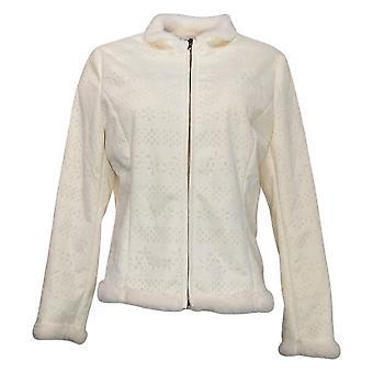 Colleen Lopez kvinner perforert faux semsket jakke elfenben 624080