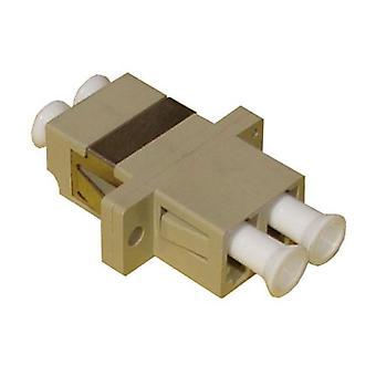 Serveredge Lc F To Lc F Multi Mode Duplex Om1 Fibre Adapter Beige