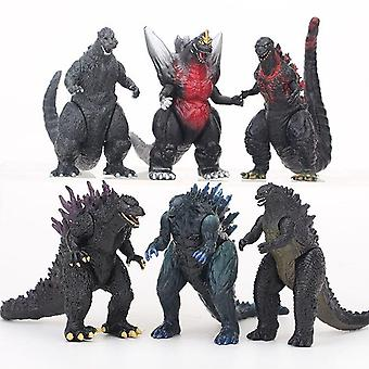 6pcs Godzilla Monsters Action Figure Doll Gift Toys