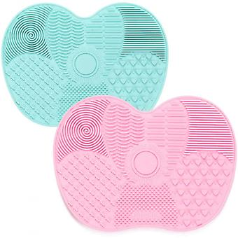 Silicone Makeup Brush Cleaning Mat With Suction Cup, Makeup Brush Scrubber
