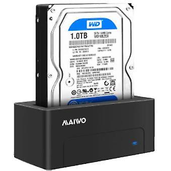 "External hard drive dock, USB-B, 3.5"" or 2.5"", USB 3.1 Gen1, 5 Gbps, english"