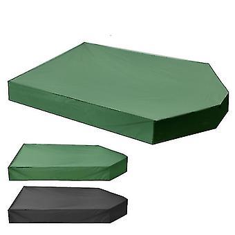 Sandboxes forma de barco para niños arena de arena de juego 160 * 113 * 22cm verde