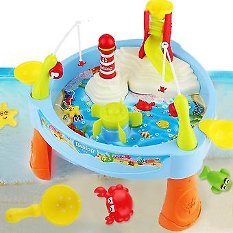 Fishing toys electric water cycle baby fishing toy with music and light kids fishing game toys