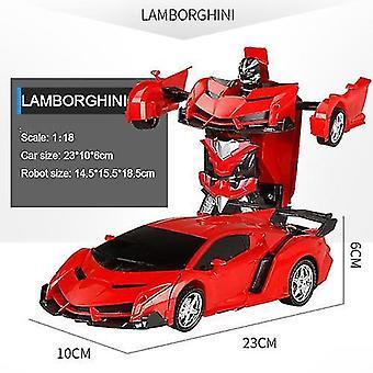 Transformatie robots elektrische rc auto sportwagen model speelgoed afgelegen outdoor rc vervorming auto's