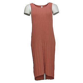 MarlaWynne kjole ærmeløs plisseret strik pink 655546