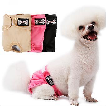 Opakovane použiteľné plienky pre psov odolné a umývateľné plienky na hygienu domácich zvierat Priedušné psie fyziologické nohavice so suchým zipsom 3ks