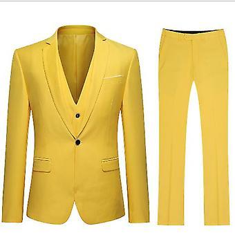 Allthemen Női 2 darabos Iroda Lady Business Suit Set Slim Fit blézer nadrág