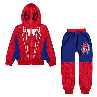 Kids Boys Spiderman Hoodie Top Pants Set Costume Outfit Casual Clothes