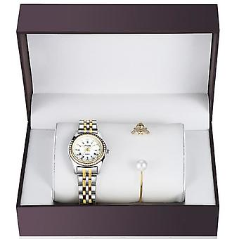 Women Stainless Steel Watch With Bracelet Gift