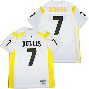 Мужская Дуэйн Хаскинс #7 Желтая футбольная майка средней школы, сшитая футболка Спортивные футболки Размер S-xxxl